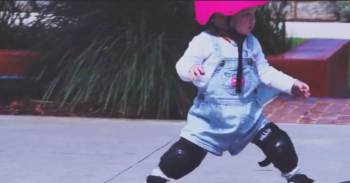 Coco: piccola campionessa di skate ha solo un anno