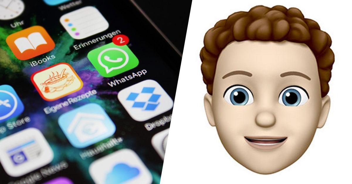 Ora le Sticker Memoji arrivano anche su WhatsApp