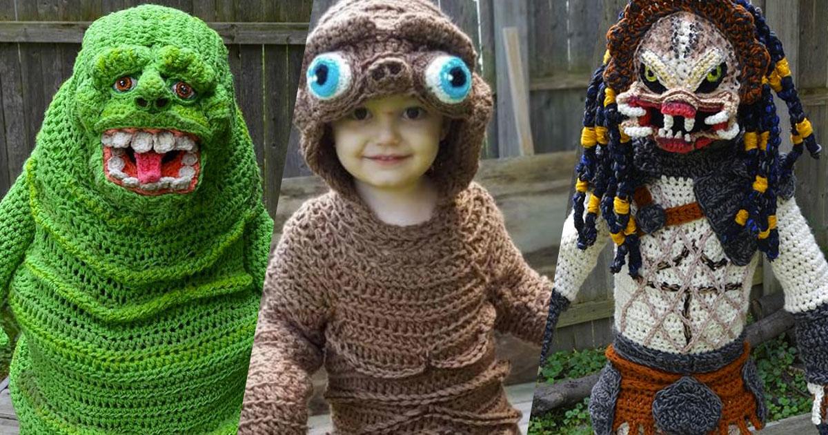Halloween: questa mamma ha realizzato all'uncinetto dei costumi fenomenali