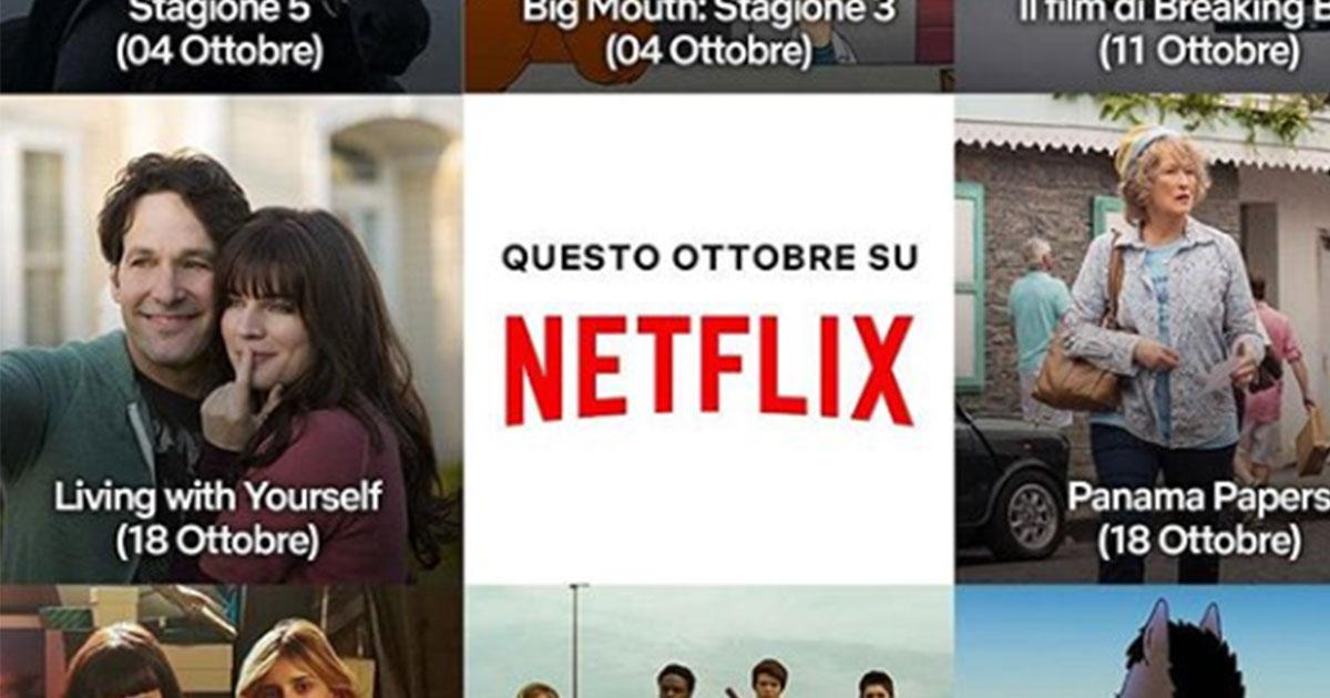 Netflix: ecco tutte le uscite previste a ottobre
