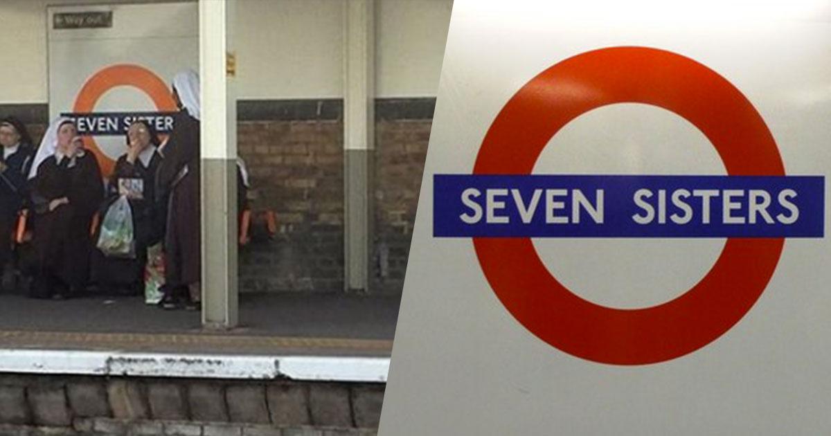 Sette suore alla fermata Seven Sisters: la foto da Londra rallegra il web