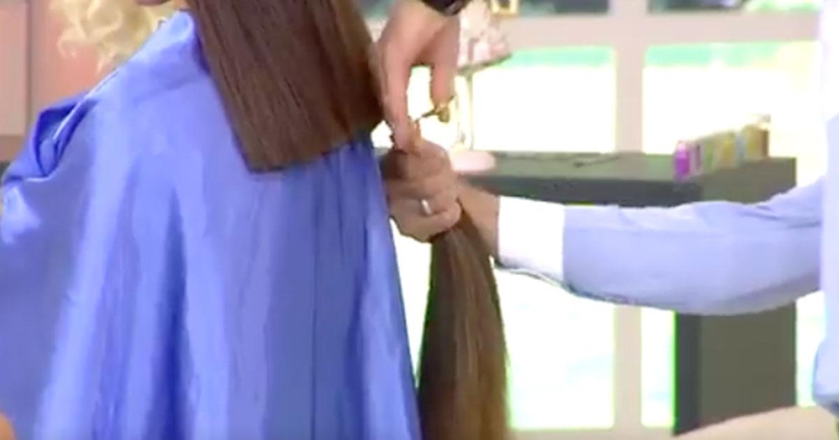 Taglio di capelli in tv: l'incredibile reazione della ragazza