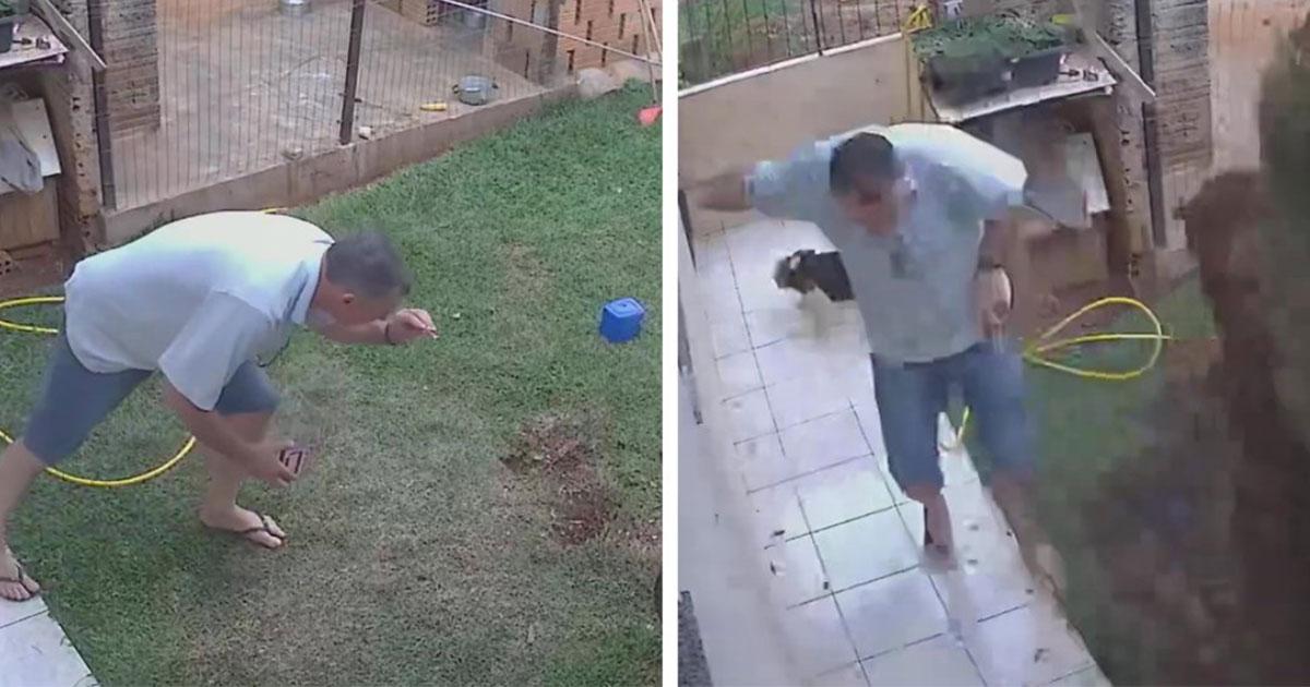 L'uomo che fa saltare in aria il giardino per allontanare gli scarafaggi: il video virale