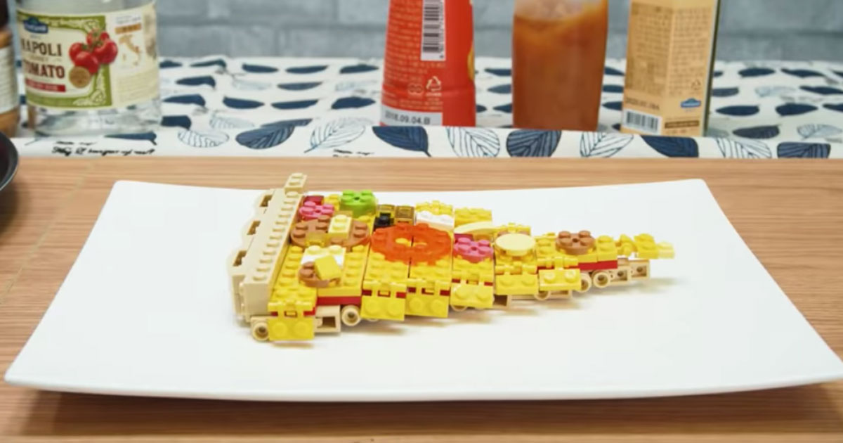 Come realizzare una pizza con i Lego: un video incredibile