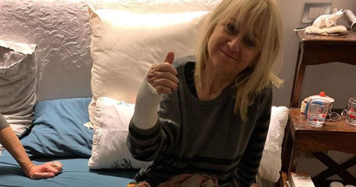Brutto incidente per Luciana Littizzetto: ecco il post su Instagram