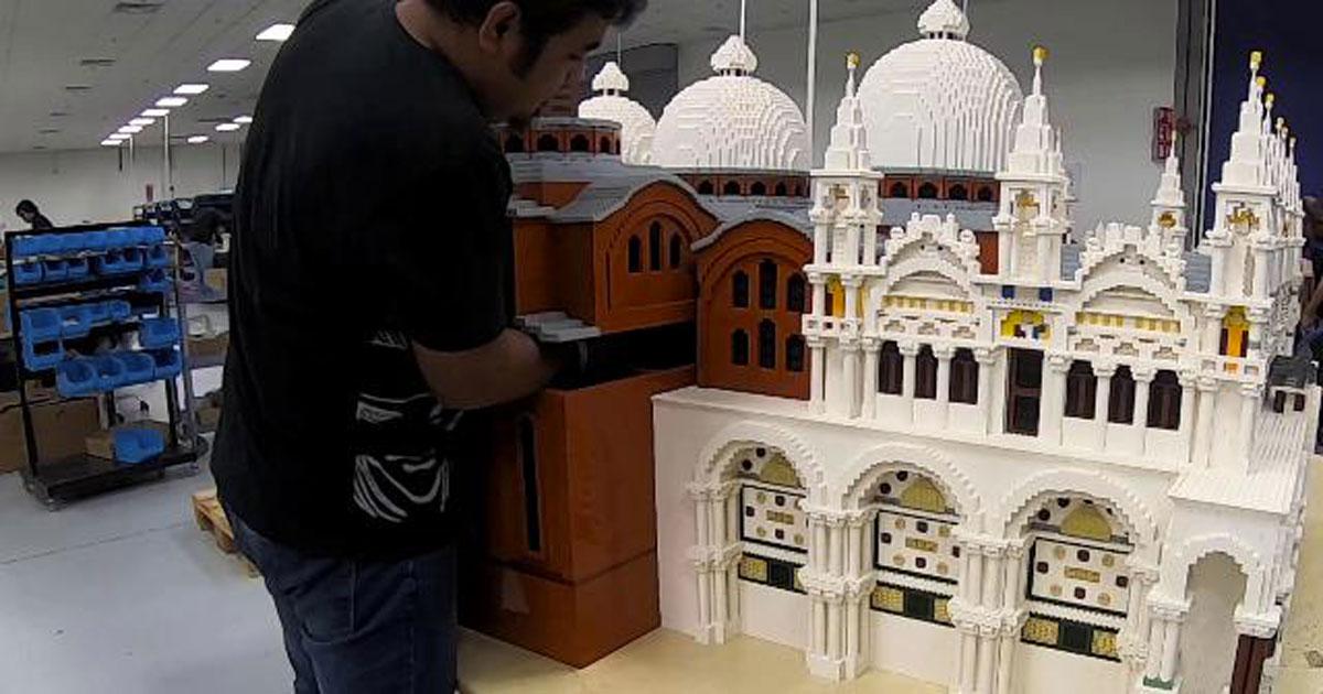La Basilica di San Marco di Venezia costruita con i Lego: questo timelapse vi stupirà