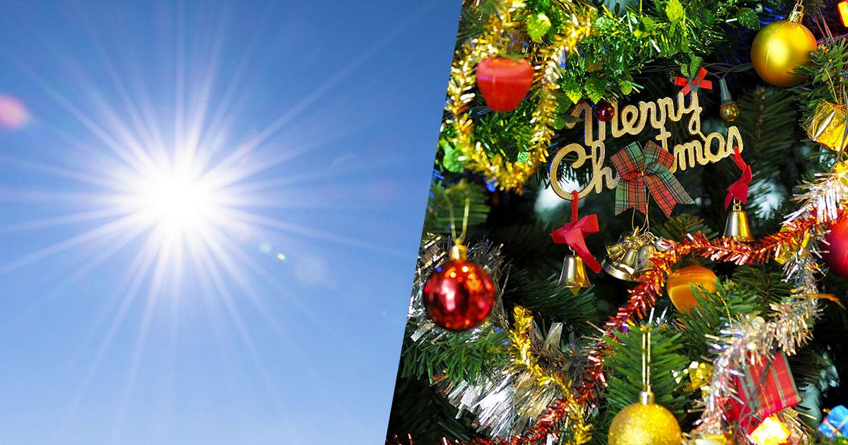 Meteo: a Natale sole e temperature elevate