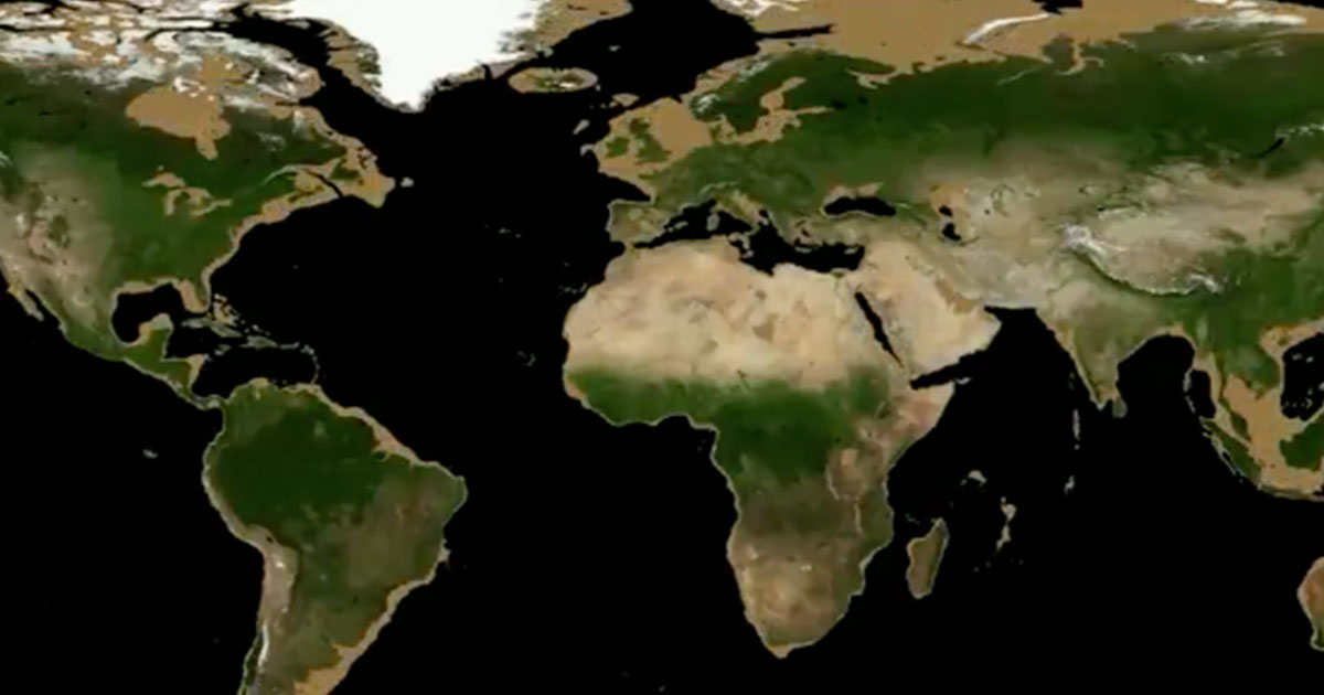 Il video in time-laps che svela l'aspetto della Terra senza oceani