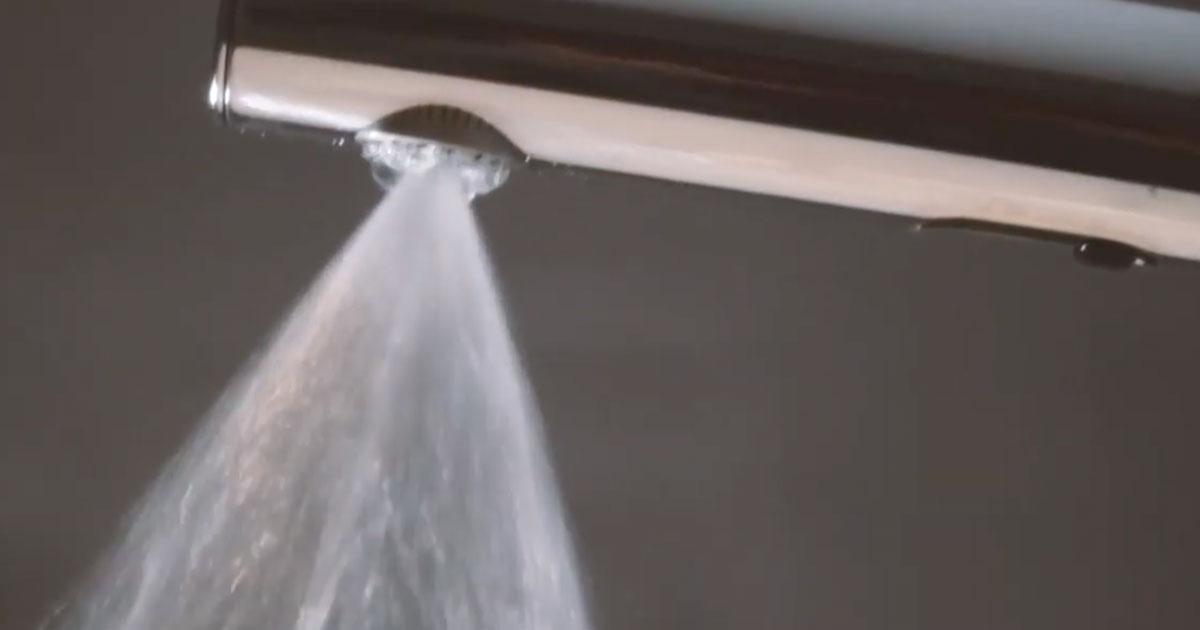 La doccia che risparmia il 75% di acqua
