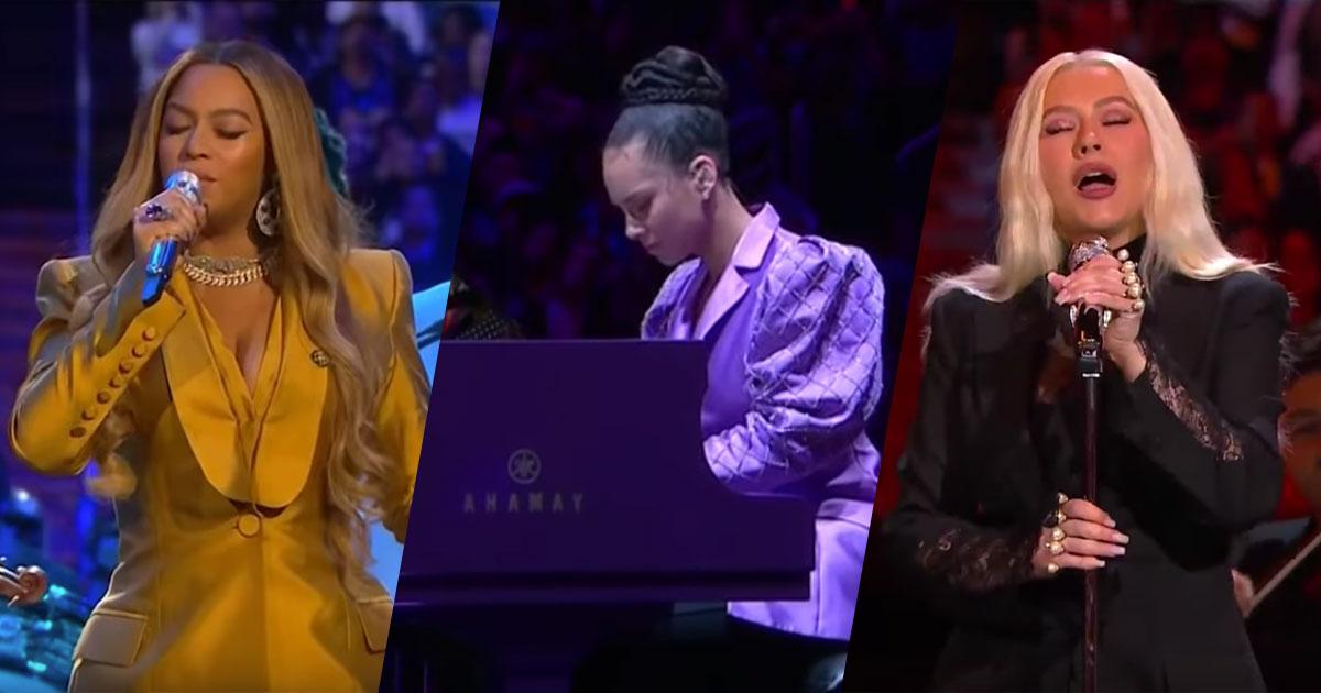 Kobe Bryant Memorial: le commoventi esibizioni di Beyoncé, Alicia Keys e Christina Aguilera