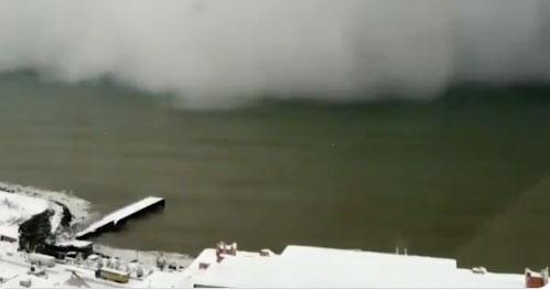 Turchia: la tempesta di neve avvolge la città di Hopa, il video è spettacolare