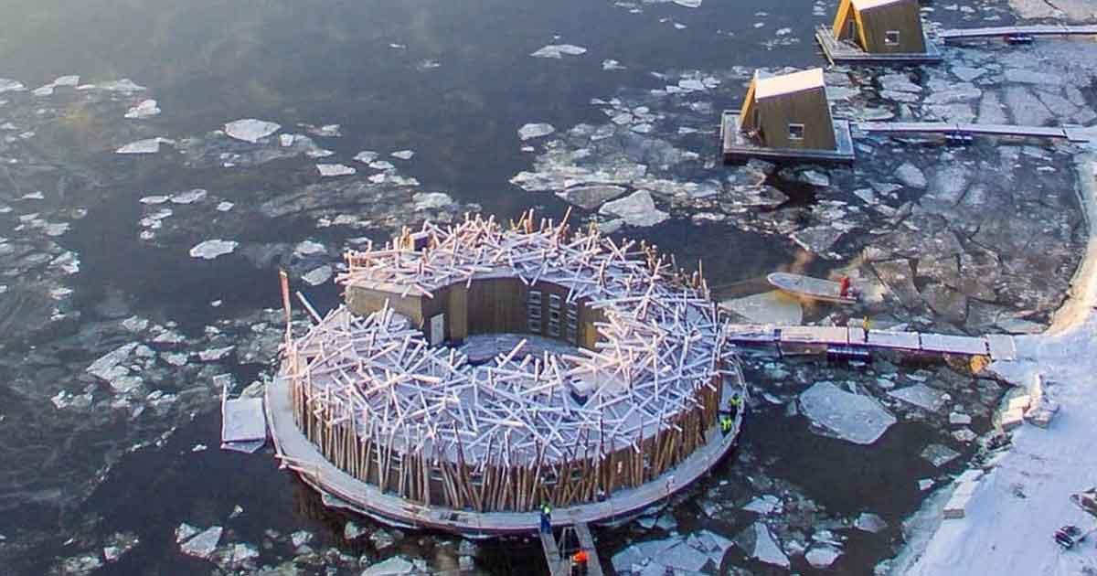 L'hotel da brividi: galleggia sui ghiacciai