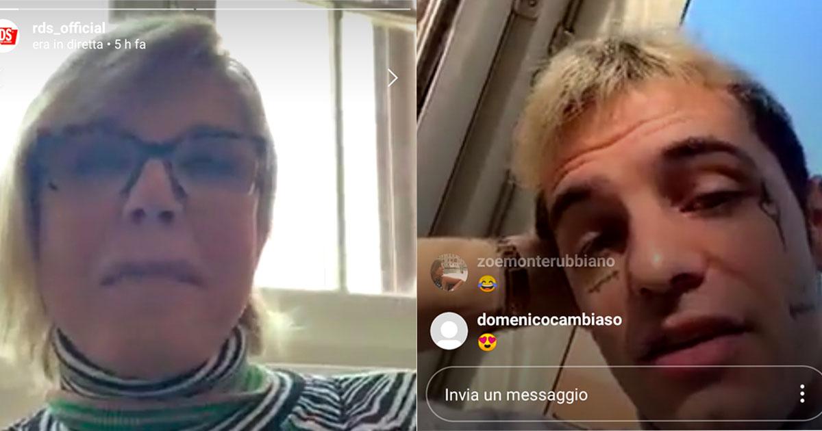 #RDSacasatua: Anna Pettinelli intervista Achille Lauro in diretta Instagram su RDS