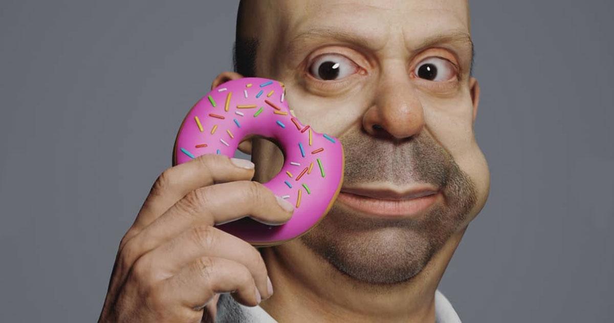 Ecco come sarebbero i Simpson nella vita reale, questi ritratti 3D sono spettacolari
