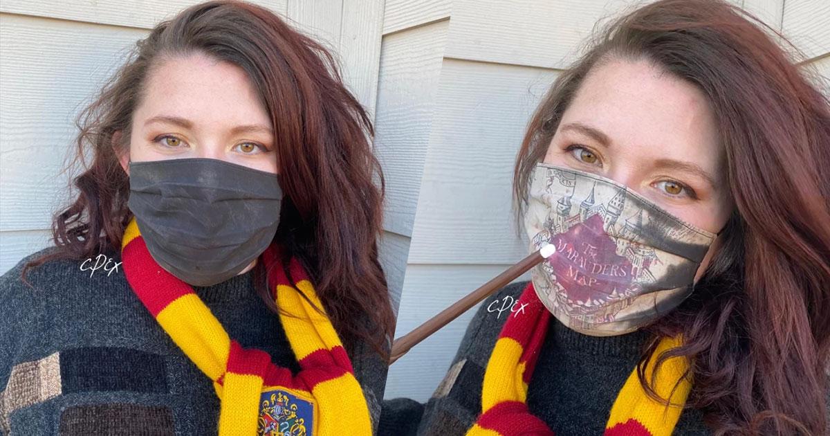 Harry Potter: ecco la mascherina che cambia colore e svela la Mappa del Malandrino