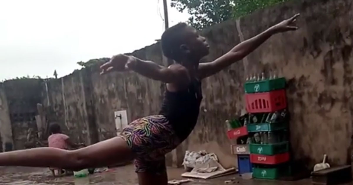Si allena scalzo sotto la pioggia: questo giovanissimo ballerino ha conquistato tutti