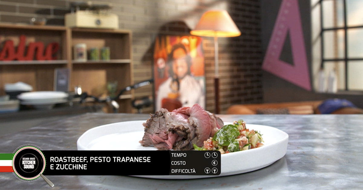 Roastbeef, pesto trapanese e zucchine - Alessandro Borghese Kitchen Sound - KIDS