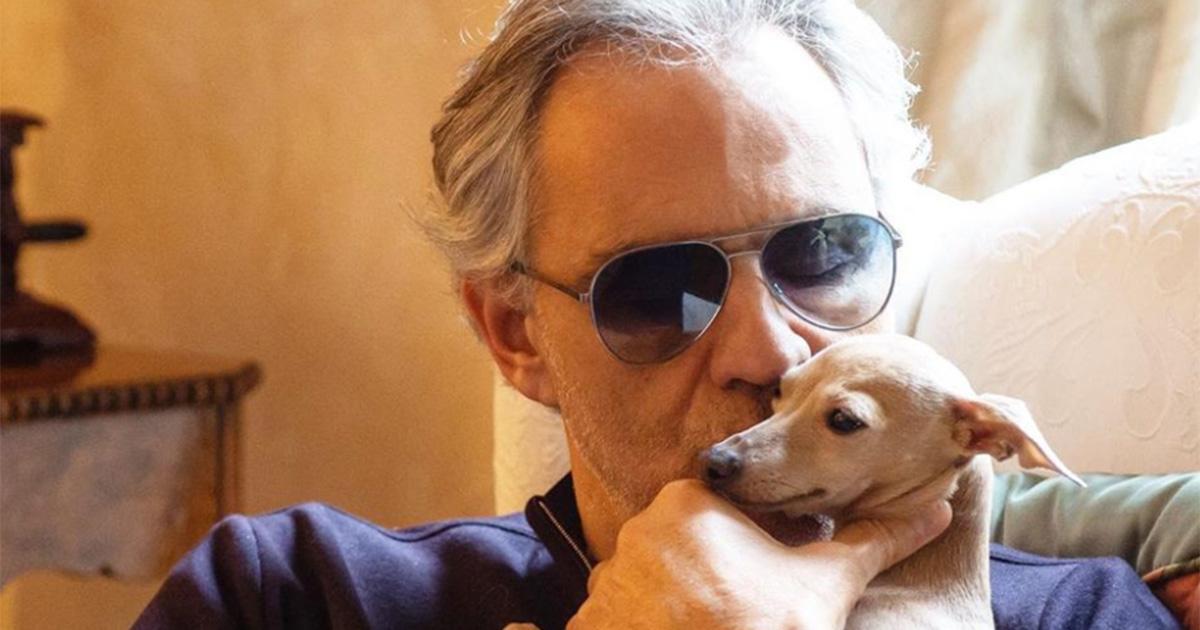 Addio Pallina: Andrea Bocelli piange la morte del suo cane