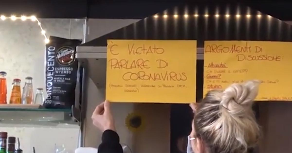 A Roma c'è un bar in cui è assolutamente vietato parlare di Covid