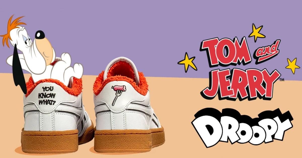 Da oggi c'è anche Droopy nella nuova serie di Reebok dedicata a Tom e Jerry