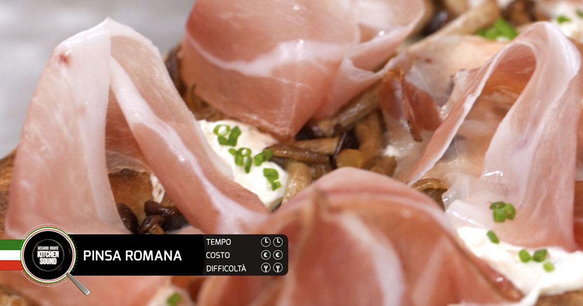 PINSA ROMANA - Alessandro Borghese Kitchen Sound - Pane e pizza