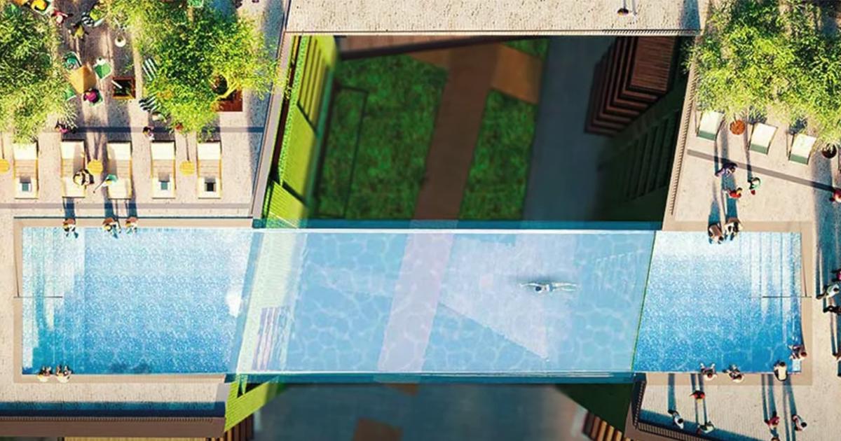La 'sky pool' di Londra è la prima piscina sospesa al mondo