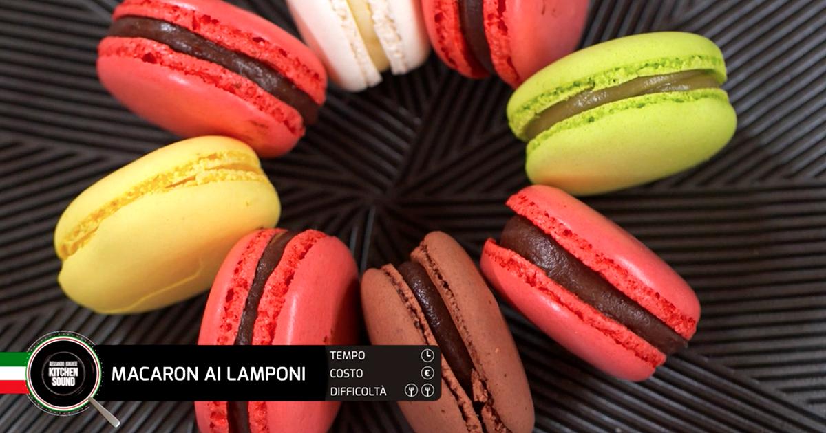 Macaron ai lamponi - Alessandro Borghese Kitchen Sound - I grandi classici della pasticceria