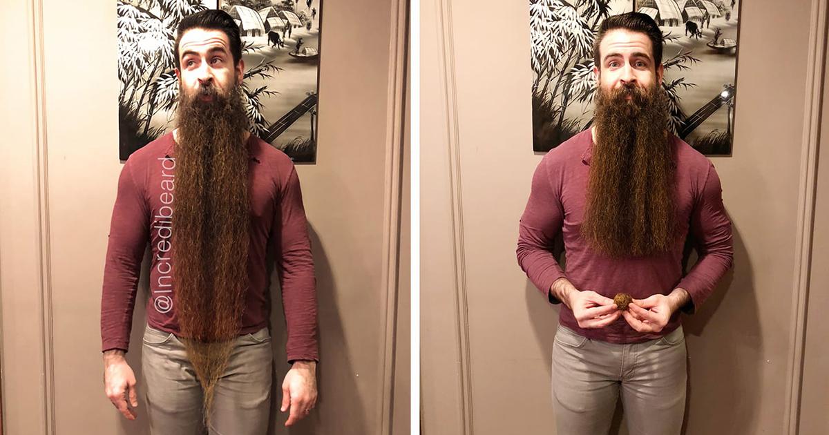 Con la sua barba riesce a fare tutto, ma proprio tutto!
