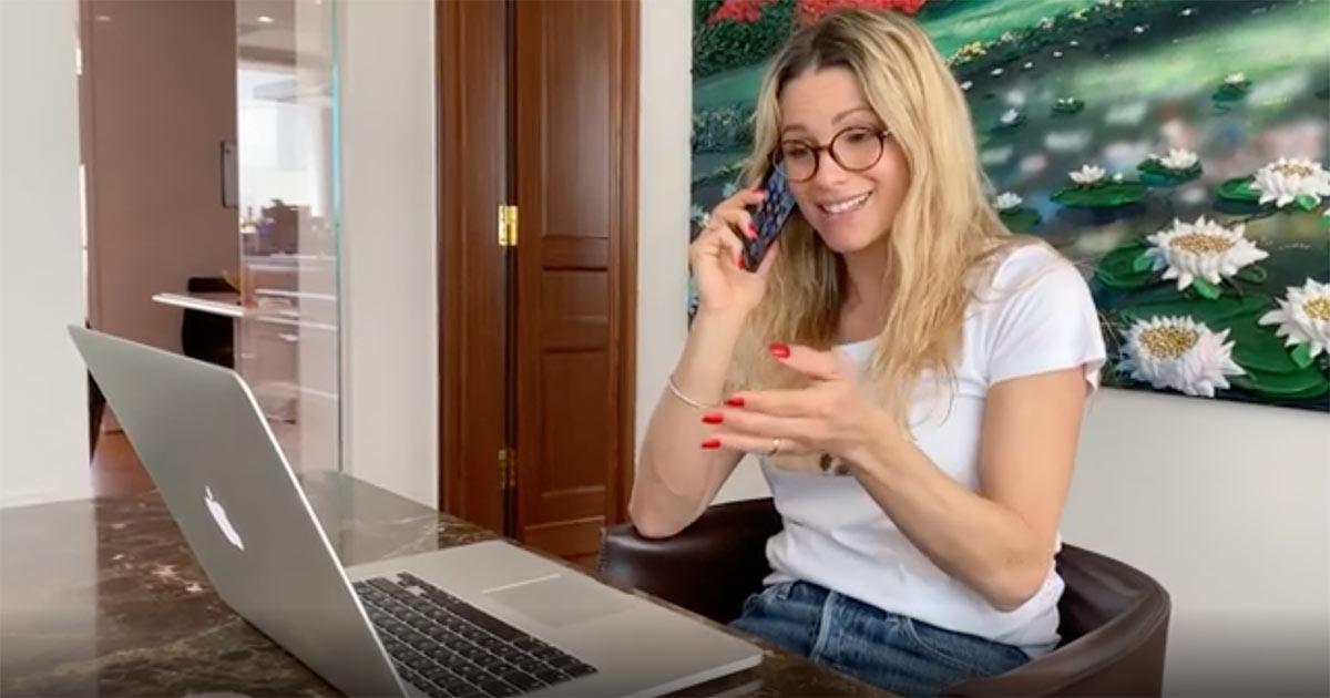 Michelle Hunziker e la didattica a distanza: il video tragicomico dedicato ai genitori