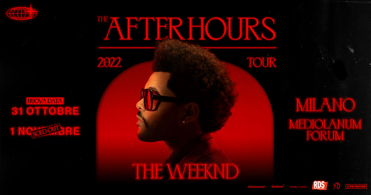 "The Weeknd aggiunge una nuova data italiana nel suo ""After Hours World Tour"""