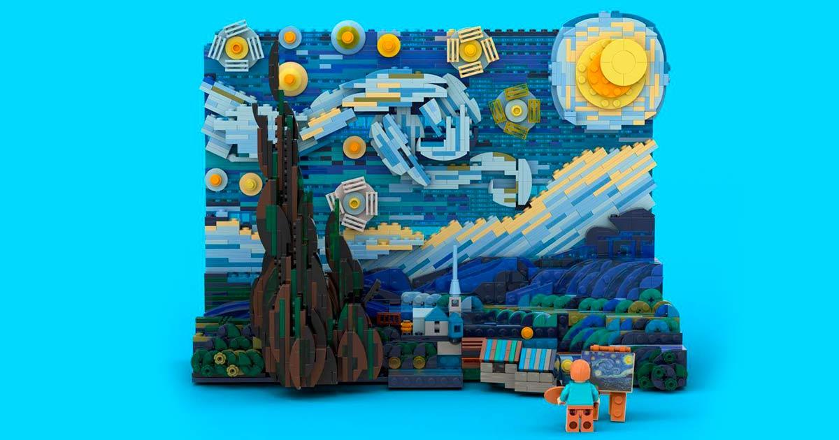 Arriva il set Lego dedicato alla Notte stellata di Vincent Van Gogh