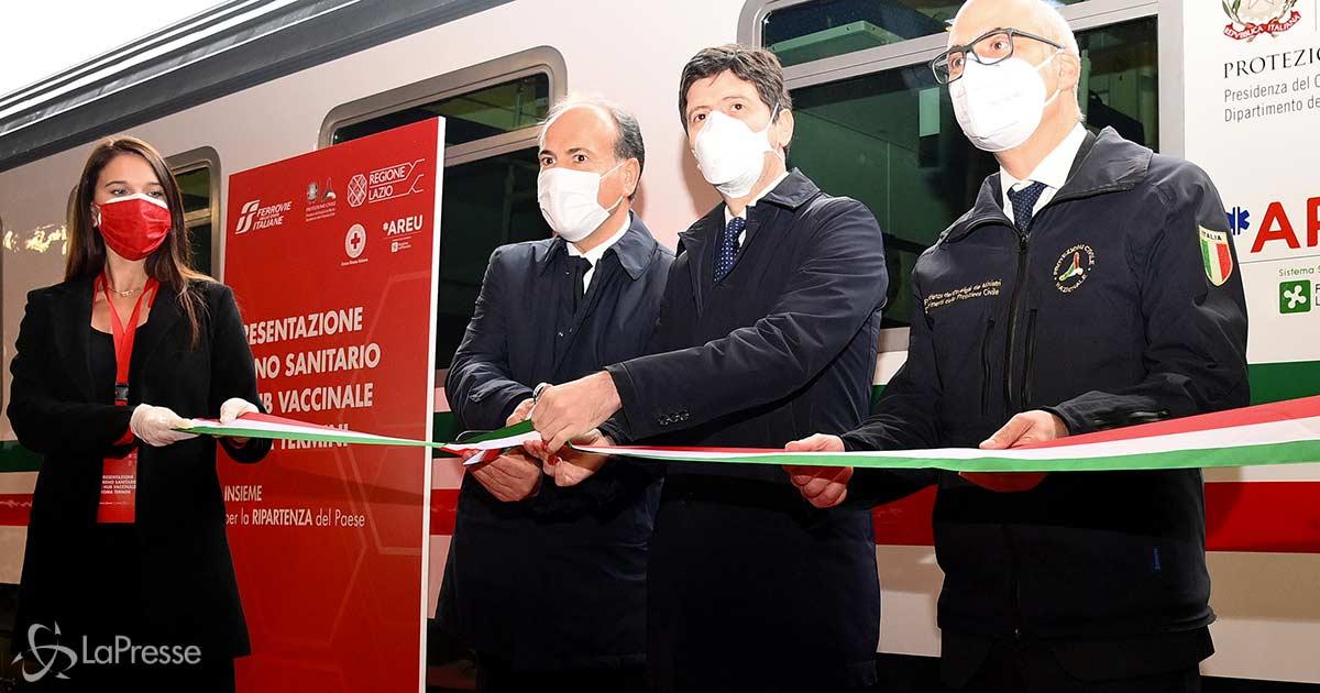 Inaugurato il treno sanitario, trasferirà con più velocità i pazienti delle terapie intensive