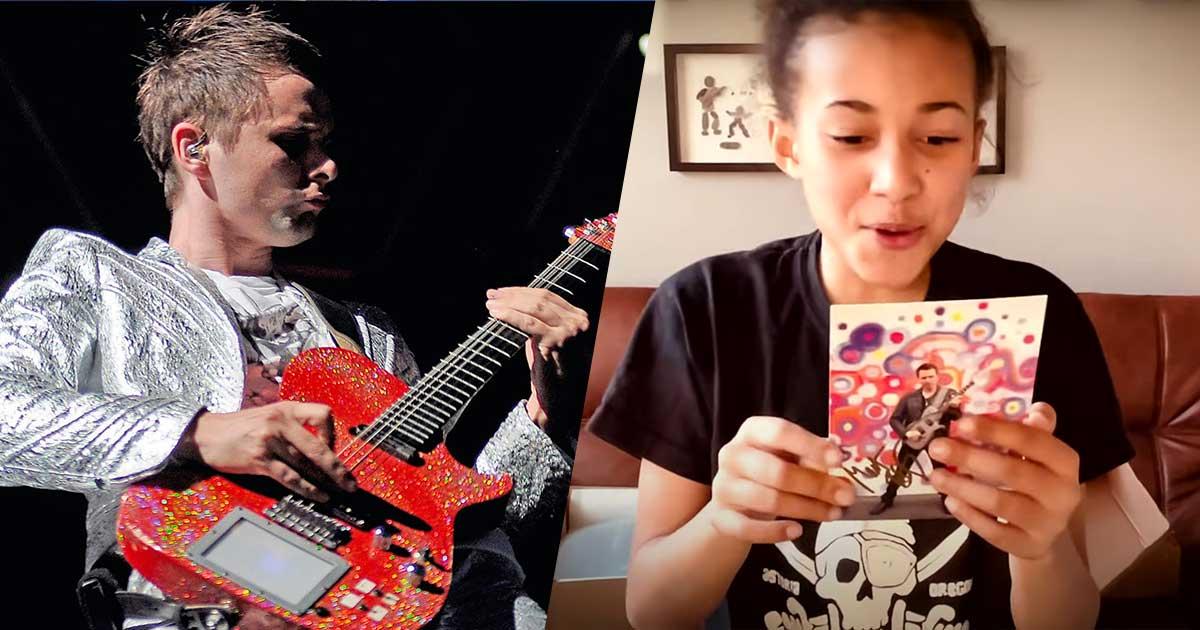 Matt Bellamy dei Muse ha regalato la sua chitarra alla piccola Nandi Bushell: ecco la sua reazione
