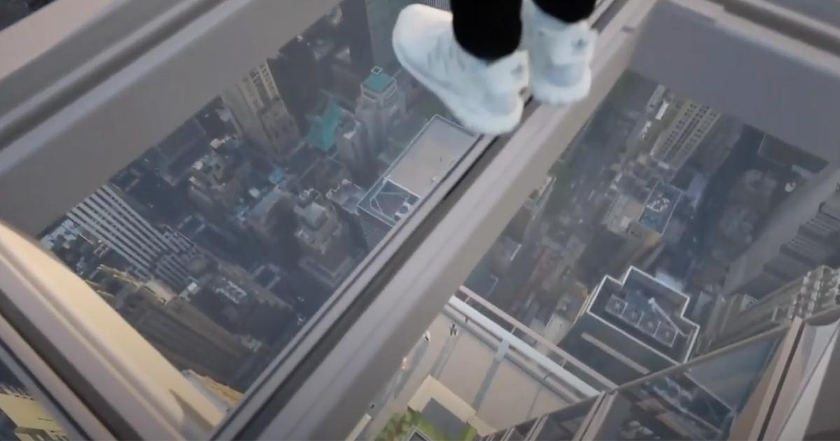 New York non è mai stata così sensazionale vista dall'alto di questo ascensore trasparente