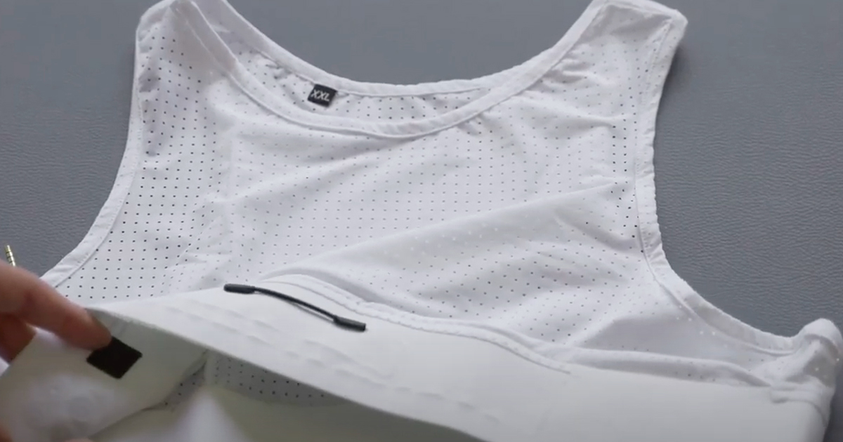 La t-shirt intelligente si attiva e funziona con il 5G