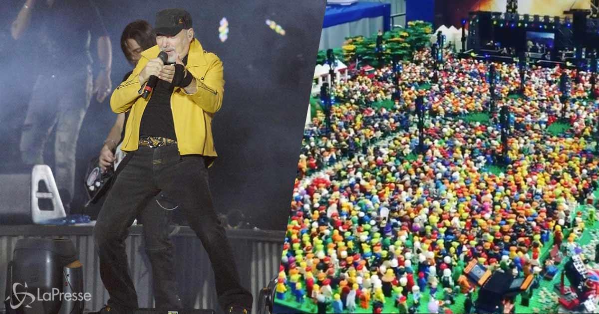 Il concerto di Modena Park di Vasco Rossi è stato ricostruito con i Lego: ecco il video
