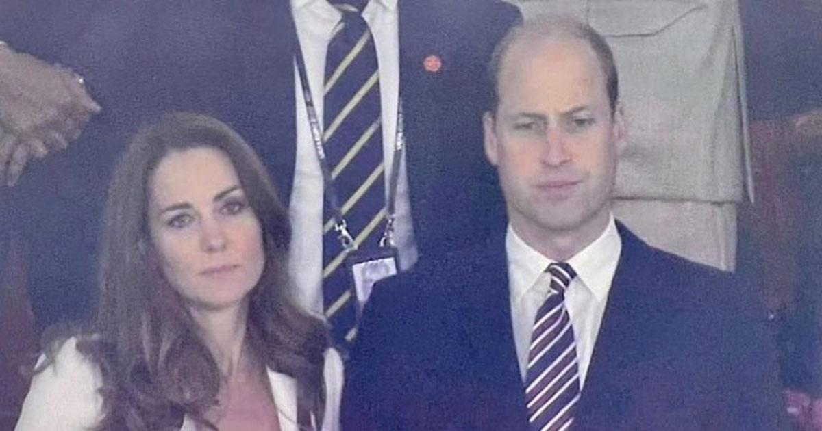 Prima e dopo: le reazioni di William e Kate a Euro 2020 diventano virali