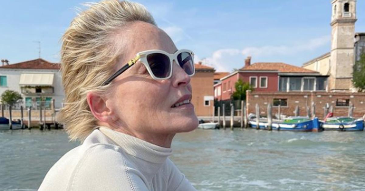Sharon Stone condivide per i follower di Instagram la sua vacanza a Venezia