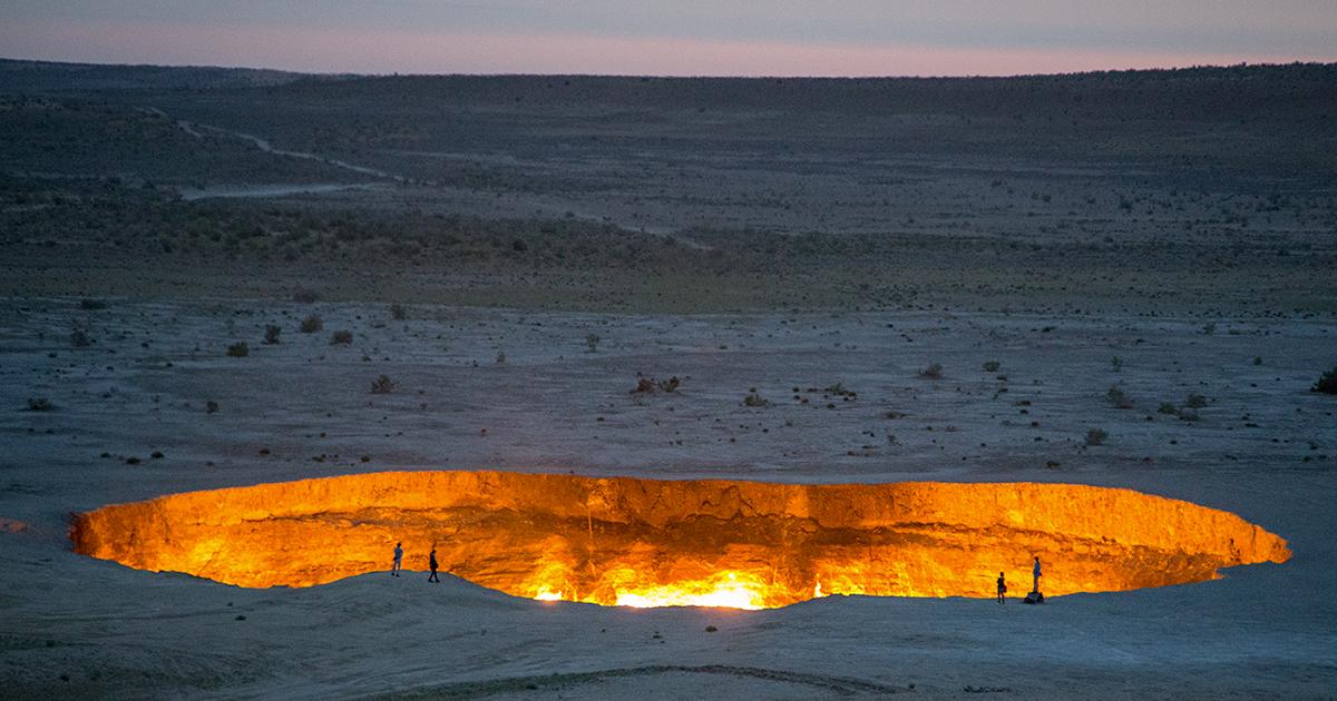 Ecco il Darzava: il cratere gassoso conosciuto come la 'Porta dell'Inferno'