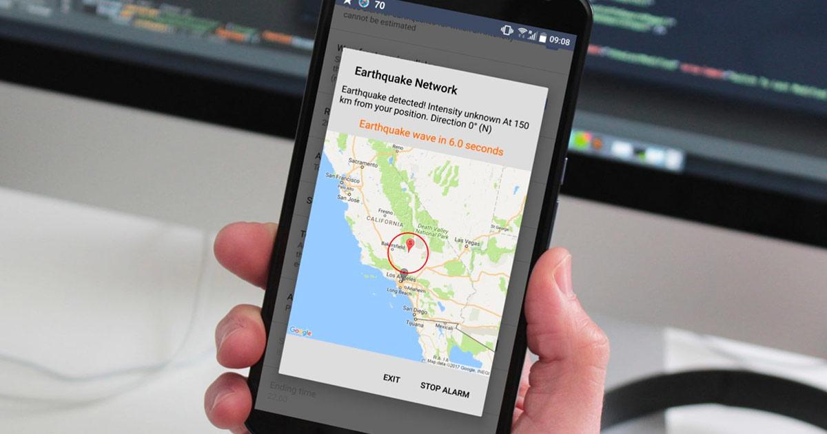 Earthquake network, l'app che segnala l'arrivo di un terremoto